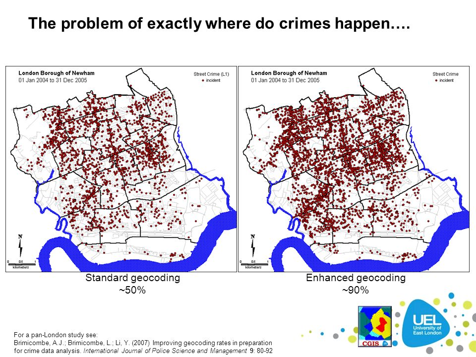 The problem of exactly where do crimes happen….