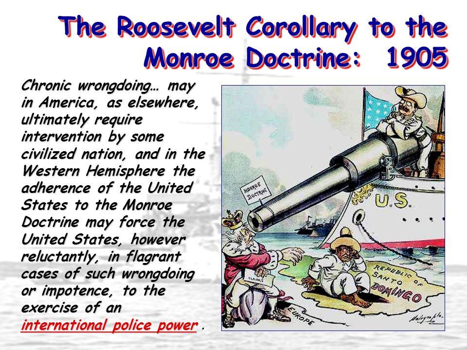 the monroe doctrine didnt allow america