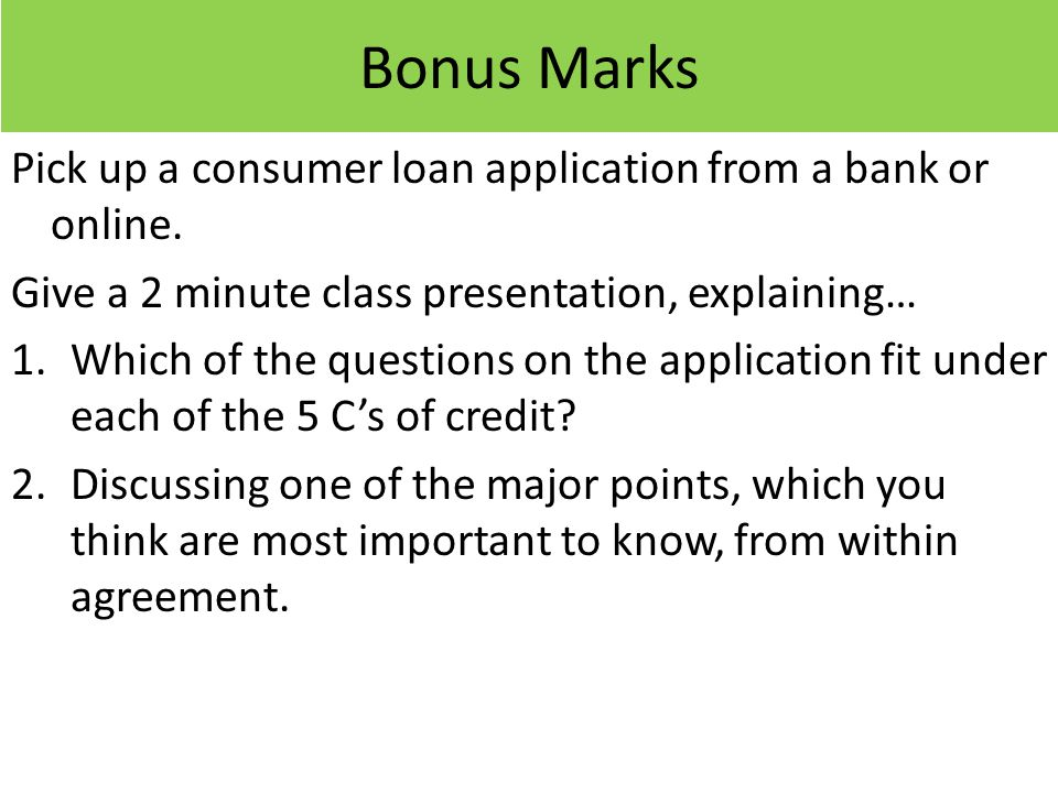 Announcements Chapter ppt download – Consumer Loan Agreement