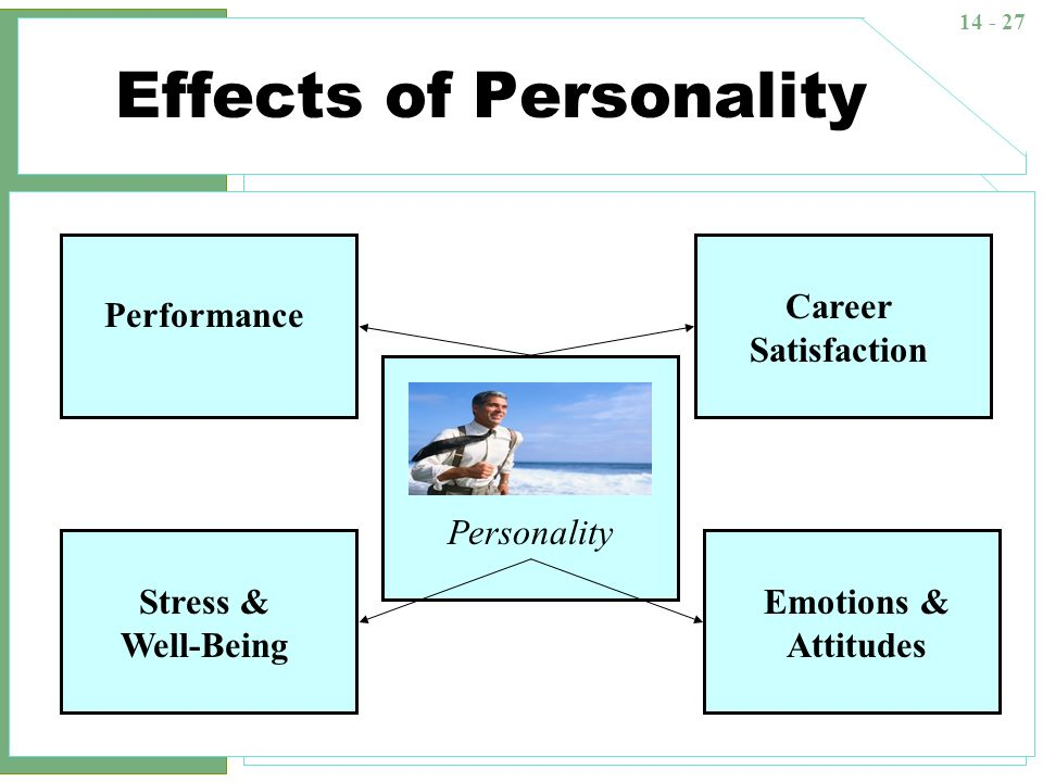 personality attitudes and job performance The distinctions you make between personality and attitude are affect employee attitudes and group performance bret l simmons – positive organizational.