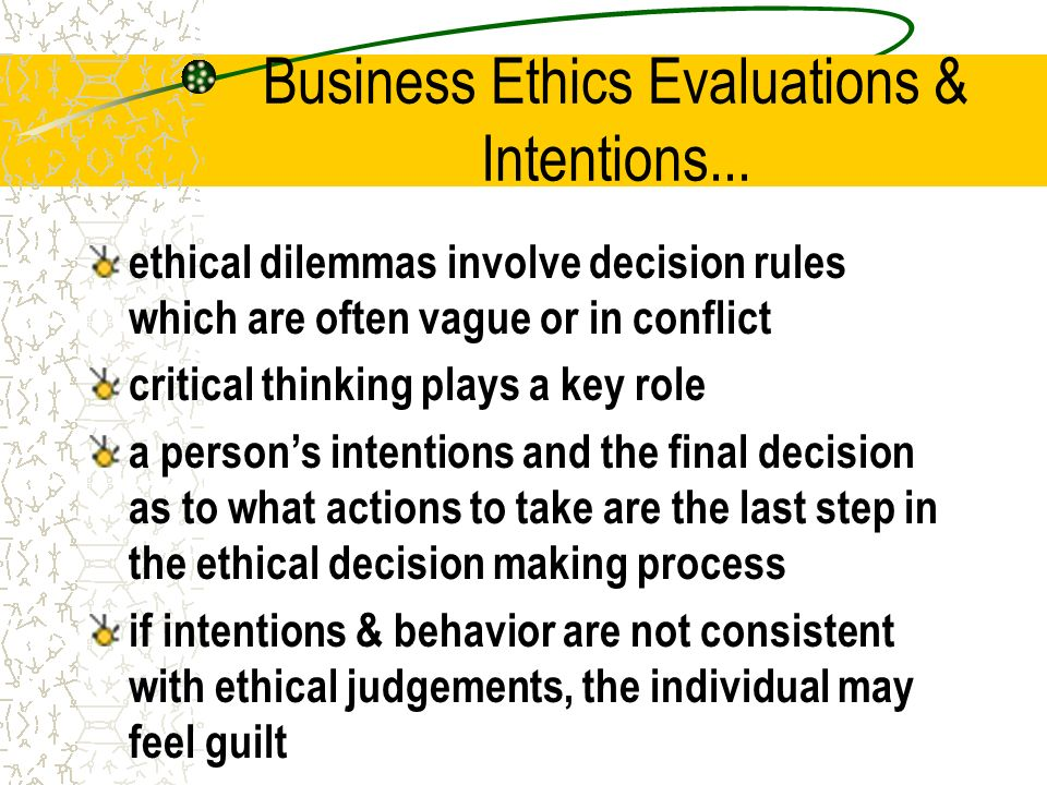 "evaluation business code ethics Profit and other values: thick evaluation in decision making - volume 27  "" recent work in ethical theory and its implications for business ethics   approach to codes of ethics and an analysis of the dutch banking code."