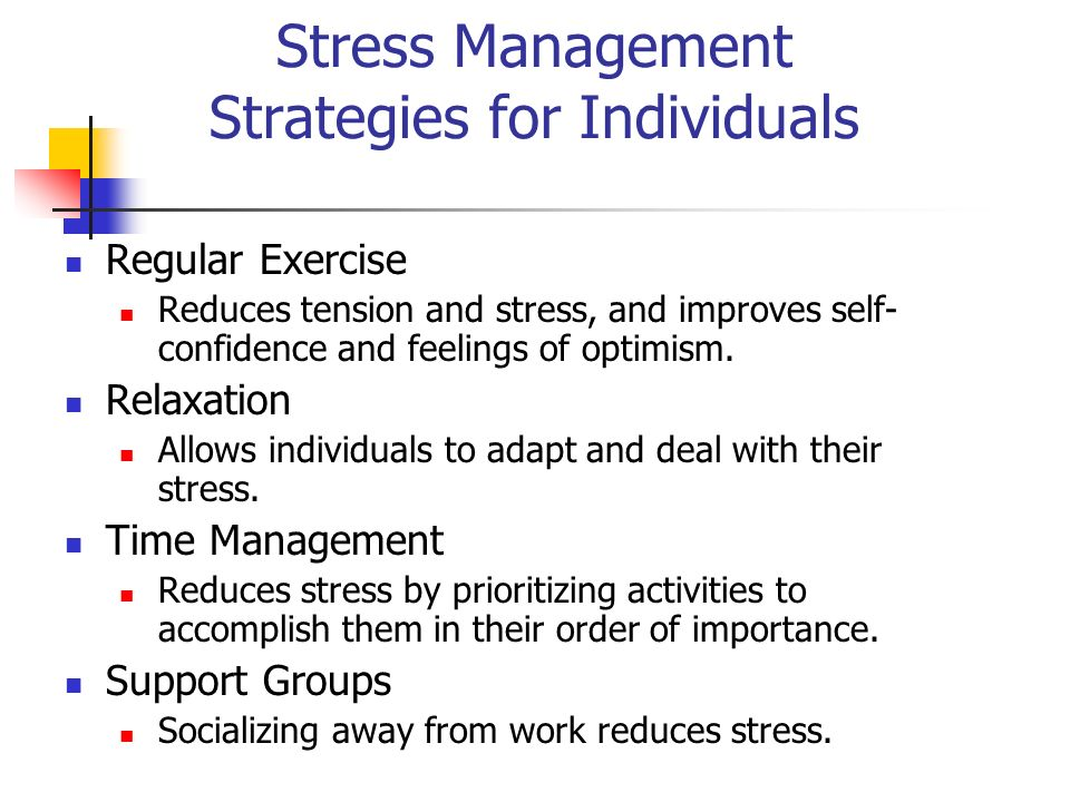 stress interventions organizations Reprinted from journal of occupational medicine volume 24, no 11, november 1982 stress management: an assessment questionnaire for evaluating interventions and comparing groups.
