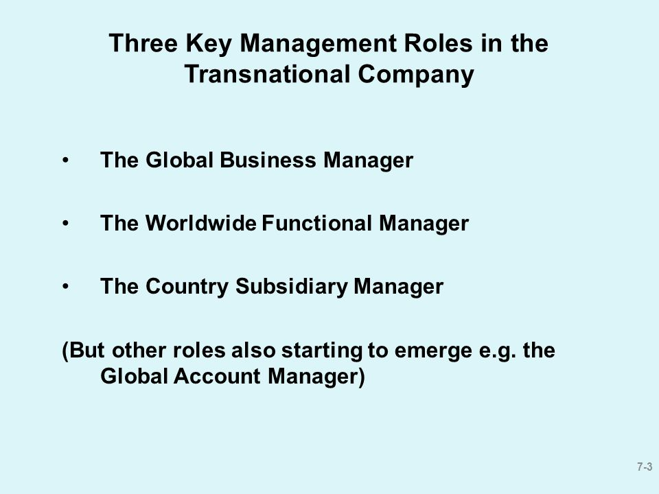 3 three - Global Account Manager