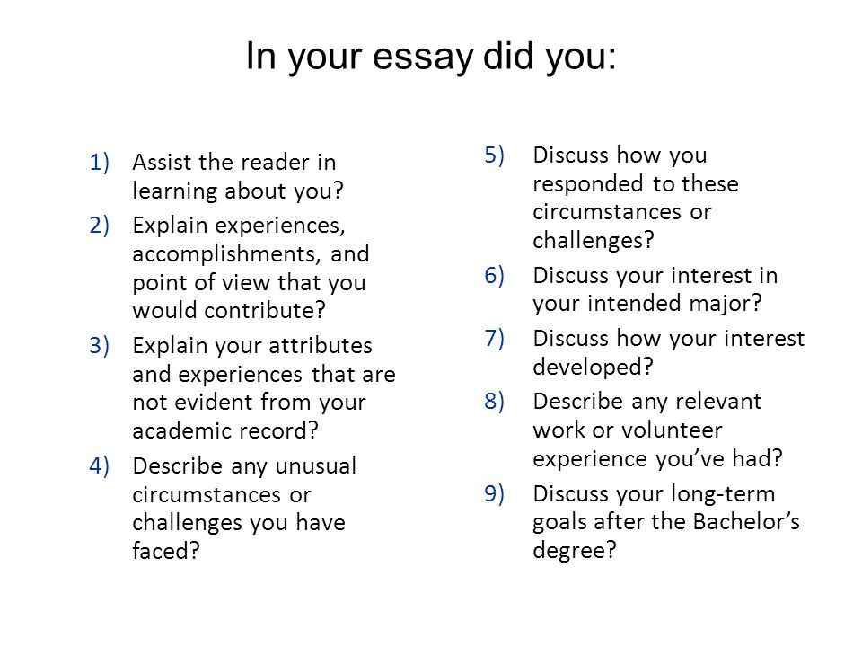 describe your volunteer experience essay We hope our collection of ucas social work personal statements provides inspiration for writing your own please do not plagiarise them in any way, or ucas will penalise your.