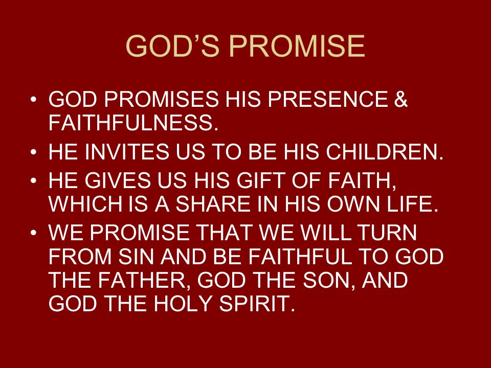 God's Promised Gifts of Children