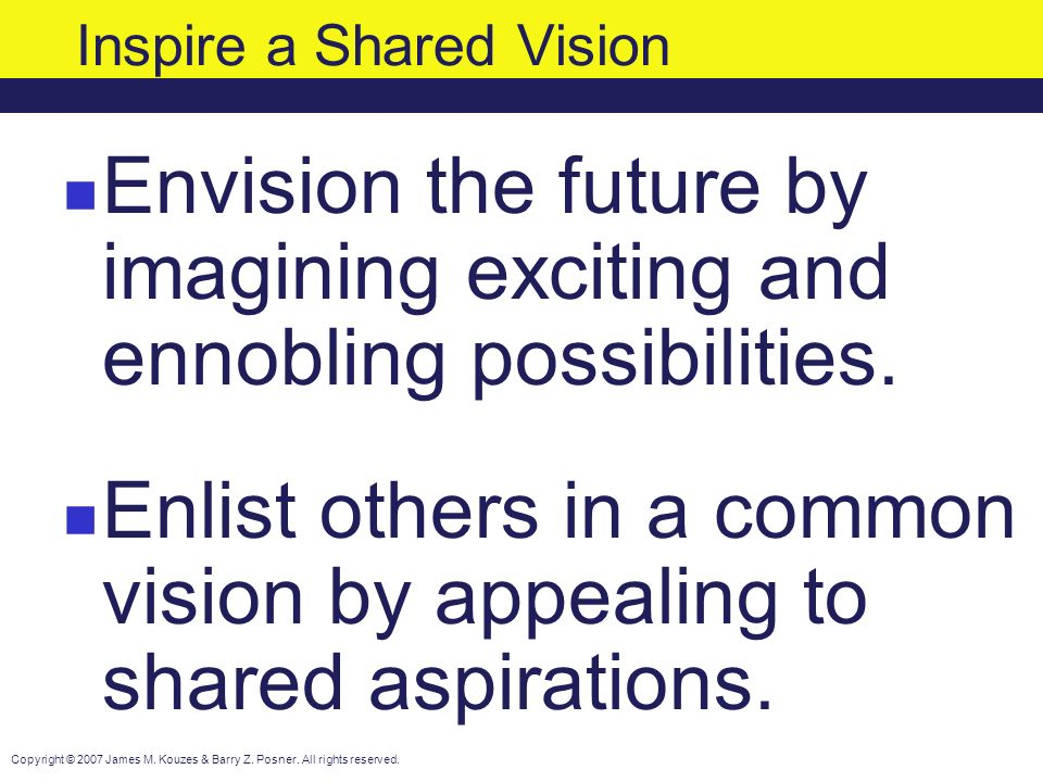 Shared vision: A key to project success