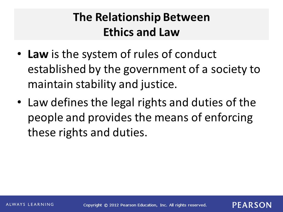 The Relationship Between Ethics and Law