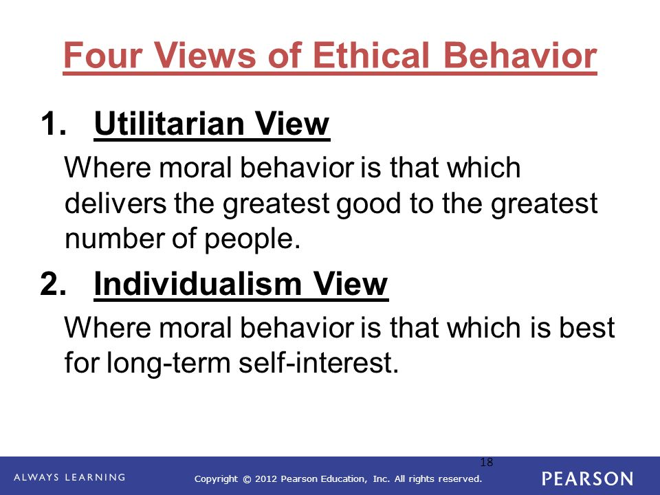 Four Views of Ethical Behavior