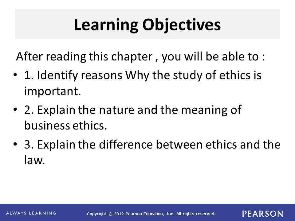 Learning Objectives After reading this chapter , you will be able to :