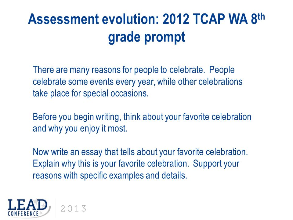 tcap writing prompts Tcap grade 8 writing practice  for each prompt, you are to plan and write an  essay about the text(s)  o write only about the texts and prompts you are given.