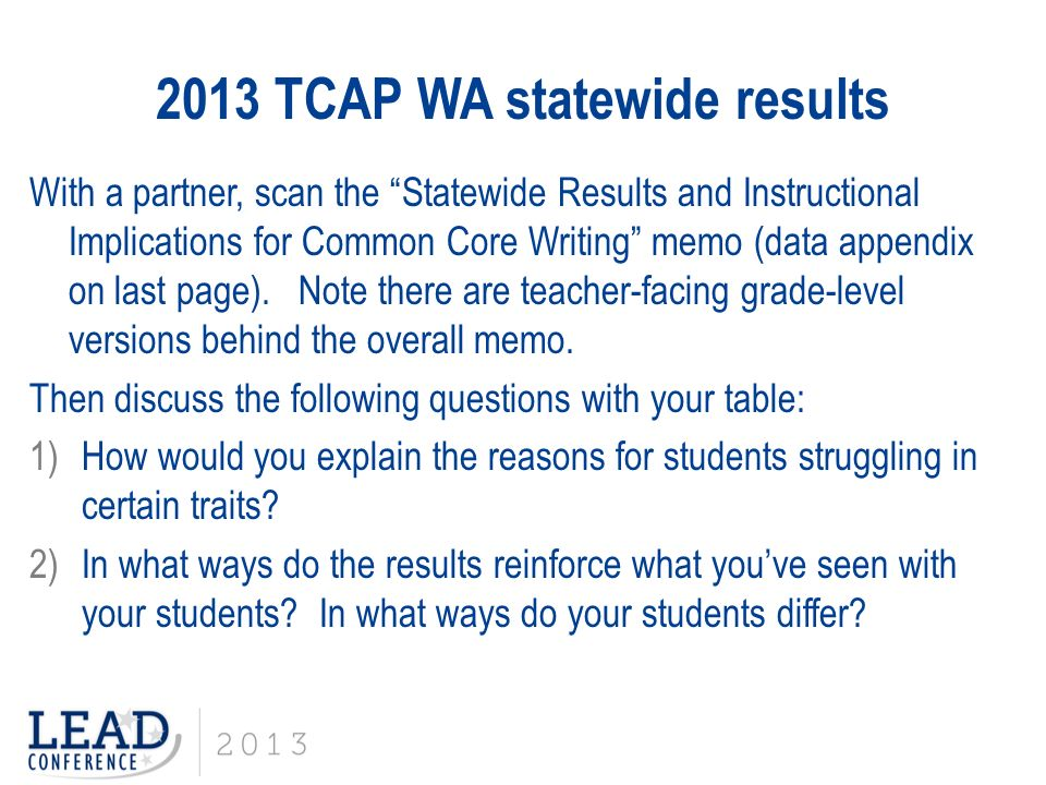 2014-15 Writing Assessment Results
