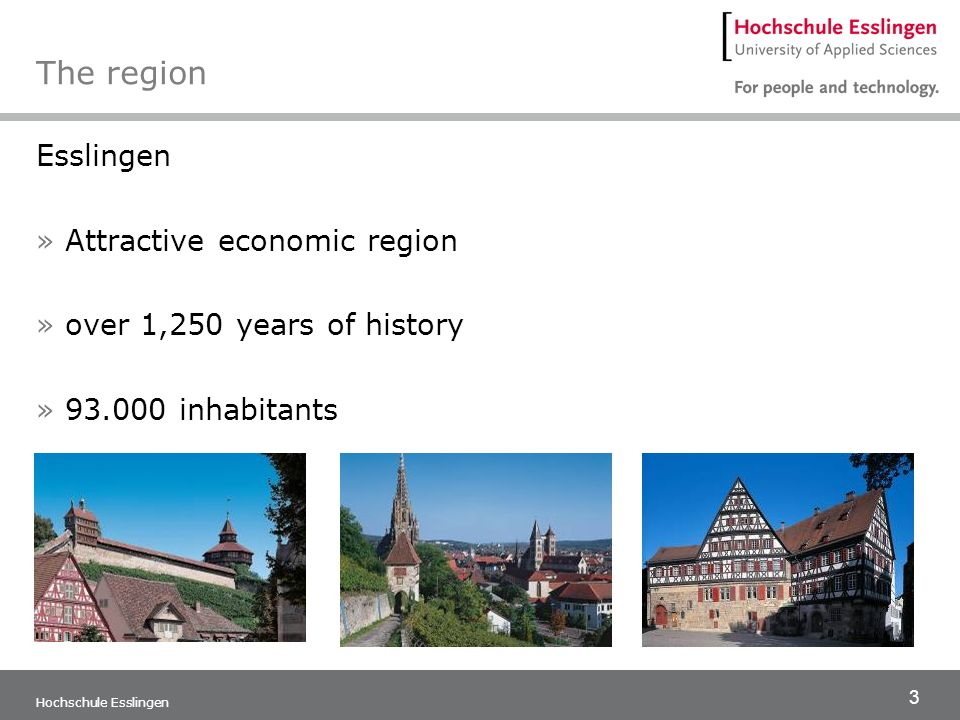 The region Esslingen Attractive economic region