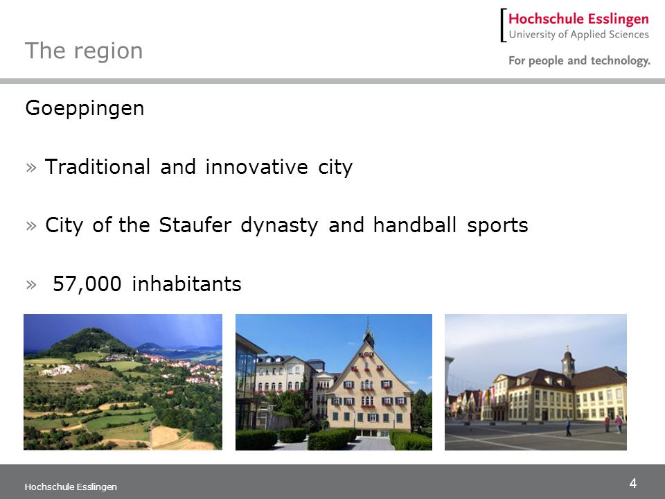 The region Goeppingen Traditional and innovative city