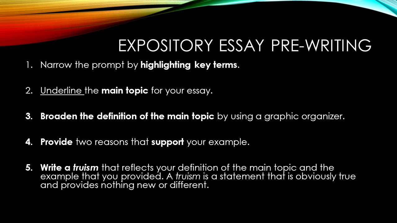 exposition in true west essay Help your student understand different types of essays and learn the four major types of essays required for school success expository essays: just the facts.