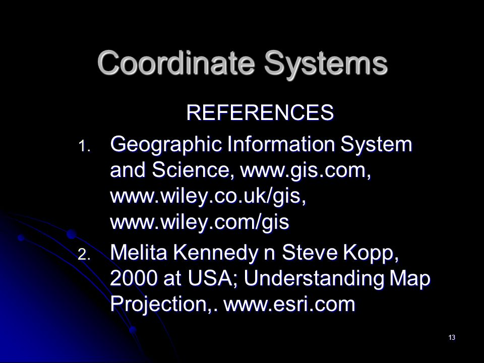projection and coordinate systems relationship