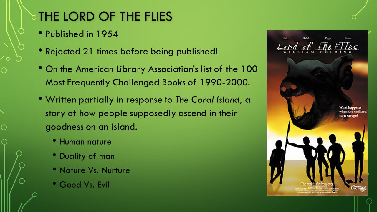 "order and chaos in the book lord of the flies by william golding A teacher's guide to lord of the flies by william golding 2 table of  lord of  the flies, with its high-stakes battle between chaos and control, will engage  students in their own  power"" in order to prevent such an attack and to render  future."