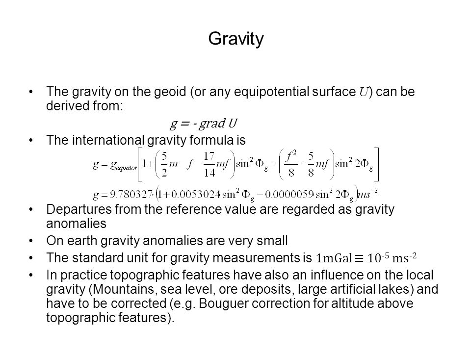 how to find gravity of a planet