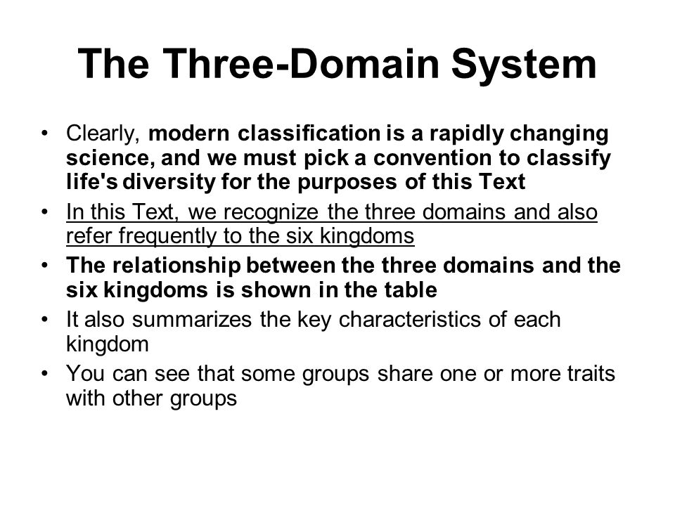 relationship between domains and kingdoms powerpoint