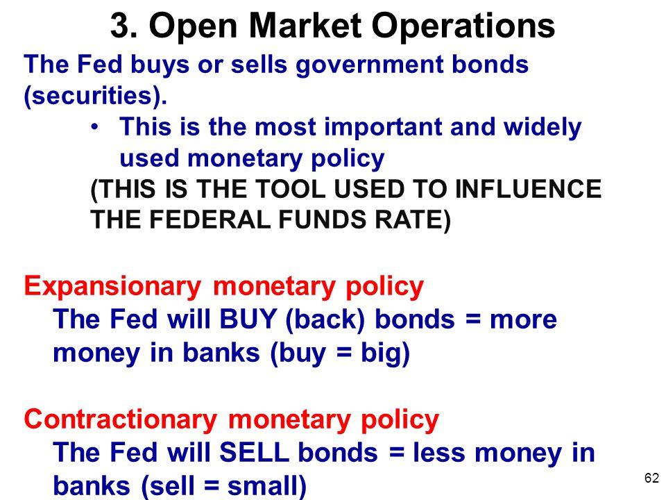 how fed uses open market operations essay Central bank the federal reserve (fed)  of this essay will compare the ecb and the fed in  open market operations are the necessary tool.