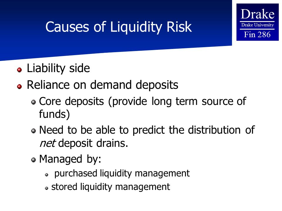 liability and liquidity management essay Regulatory assessment of asset/liability risk management  however, in  community banks with high irr or liquidity risks, the board, or a designated.