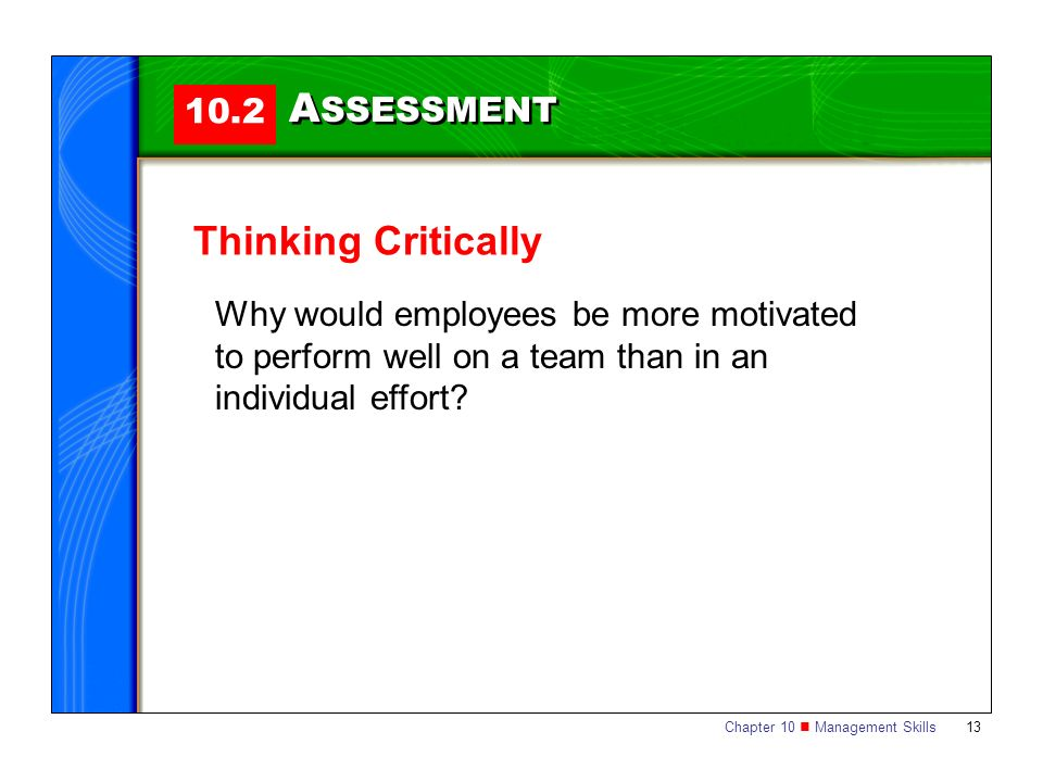 ASSESSMENT Thinking Critically 10.2