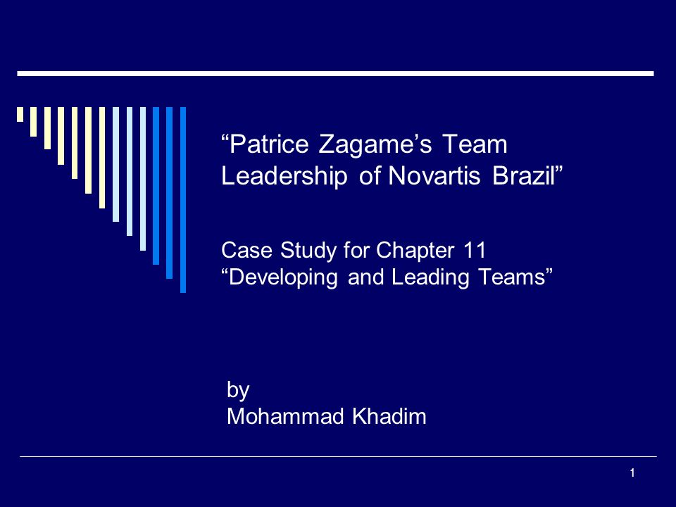 Patrice Zagames Team Leadership Of Novartiszil Case Study For Chapter 11 Developing And Leading Teams