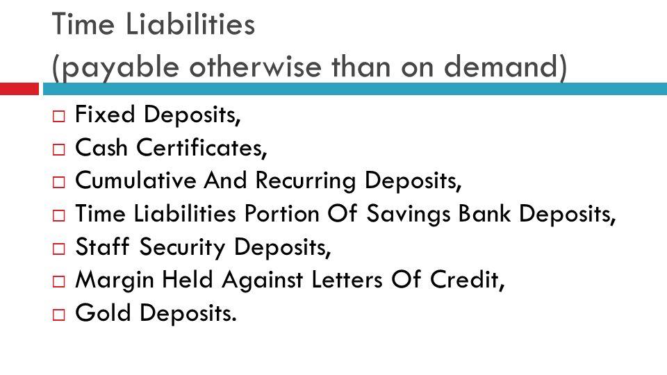 cash reserve ratiocrr statutory liquid ratio slr With margin money deposit against letter of credit
