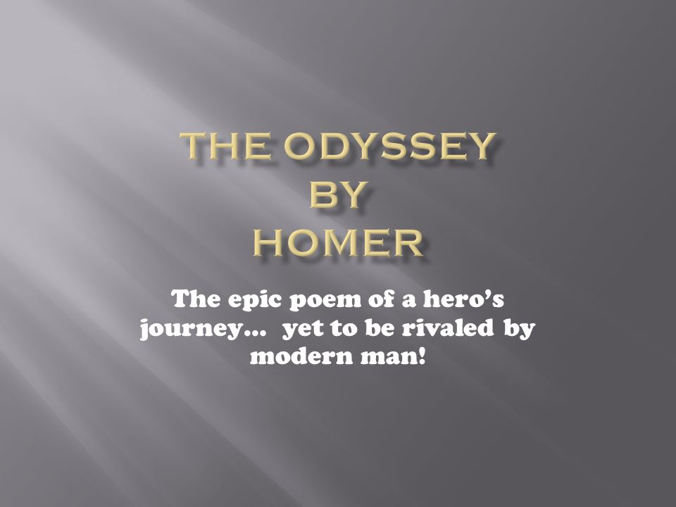 an analysis of the epic poem odyssey by homer Homer's the odyssey  characteristics of an epic poem while reading the odyssey,  (quotation with line number) analysis (what does it mean.