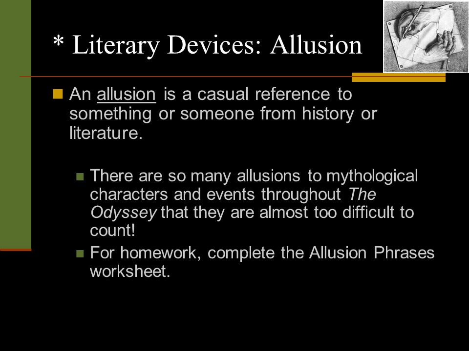 the use of literary devices as How can the answer be improved.