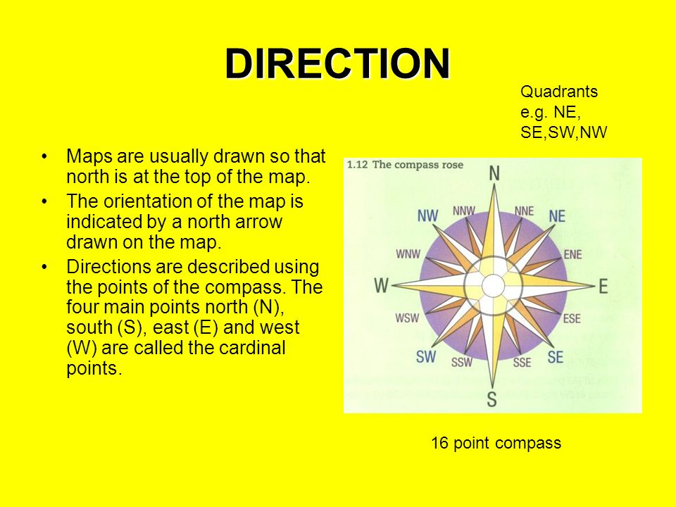 Maps And Map Reading Ppt Video Online Download - Cardinals points map us