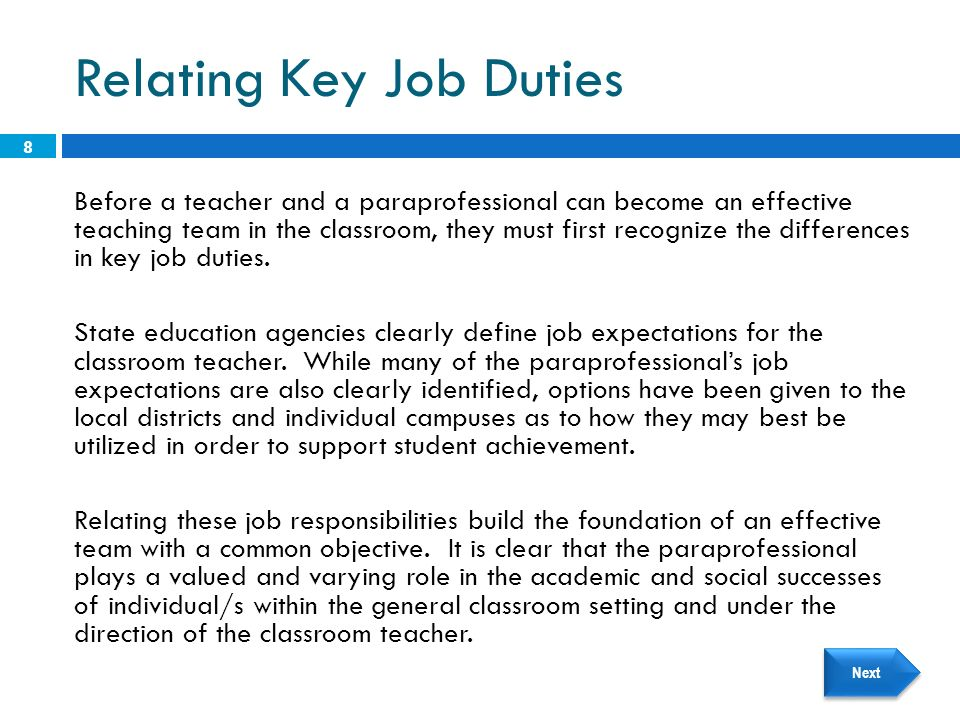 EDTC Teaming: The Classroom Teacher and the Paraprofessional - ppt ...