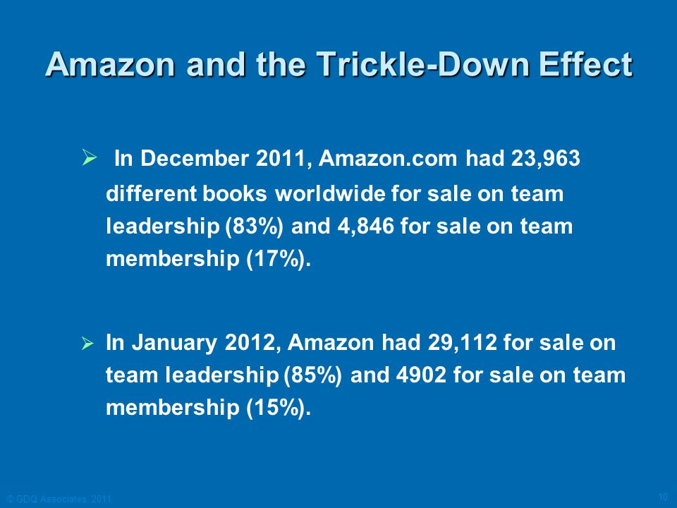 Amazon and the Trickle-Down Effect