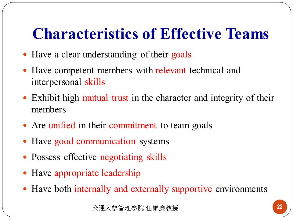 characteristics of affective communication New research: communication in effective teams may 10, 2012 prev next communication is a key aspect of teamwork, and a team that works together well is.