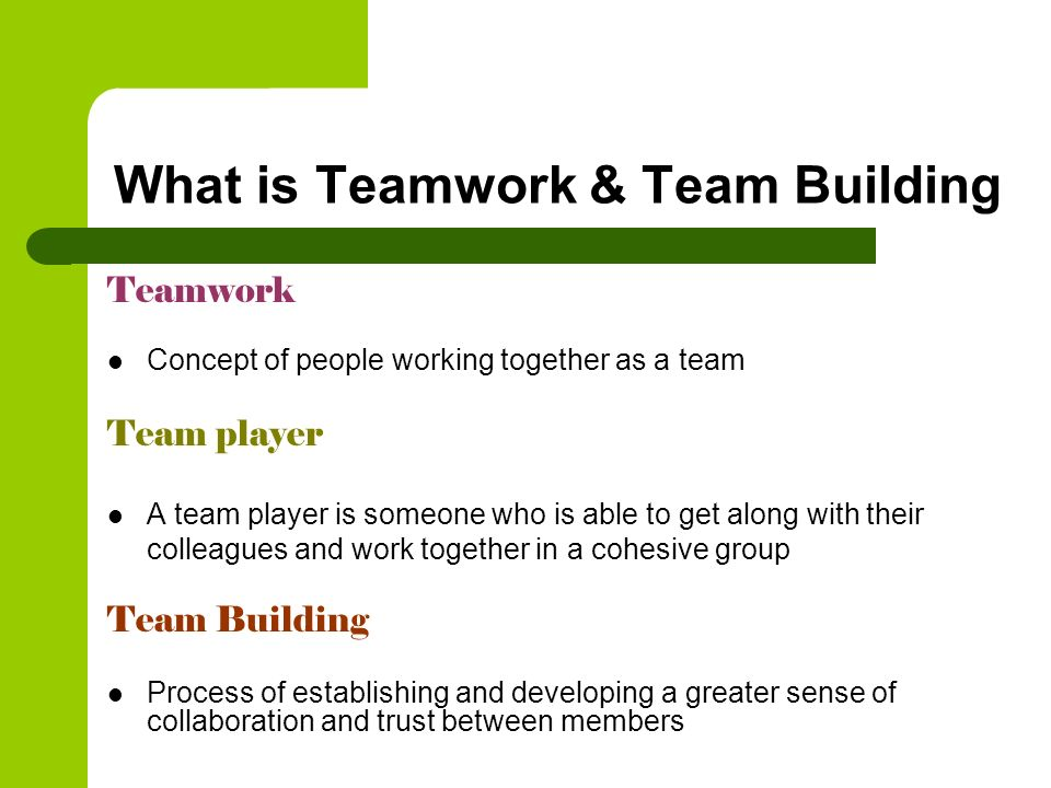 What is Teamwork & Team Building