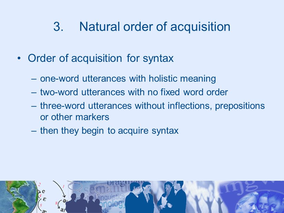 Natural order of acquisition