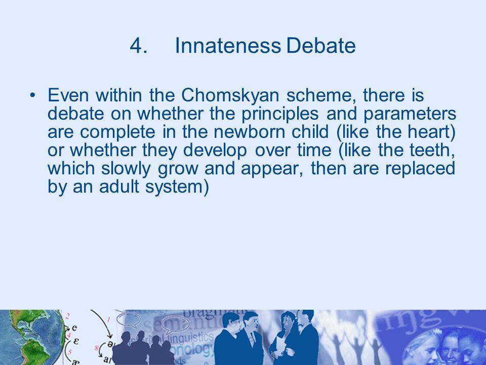 Innateness Debate