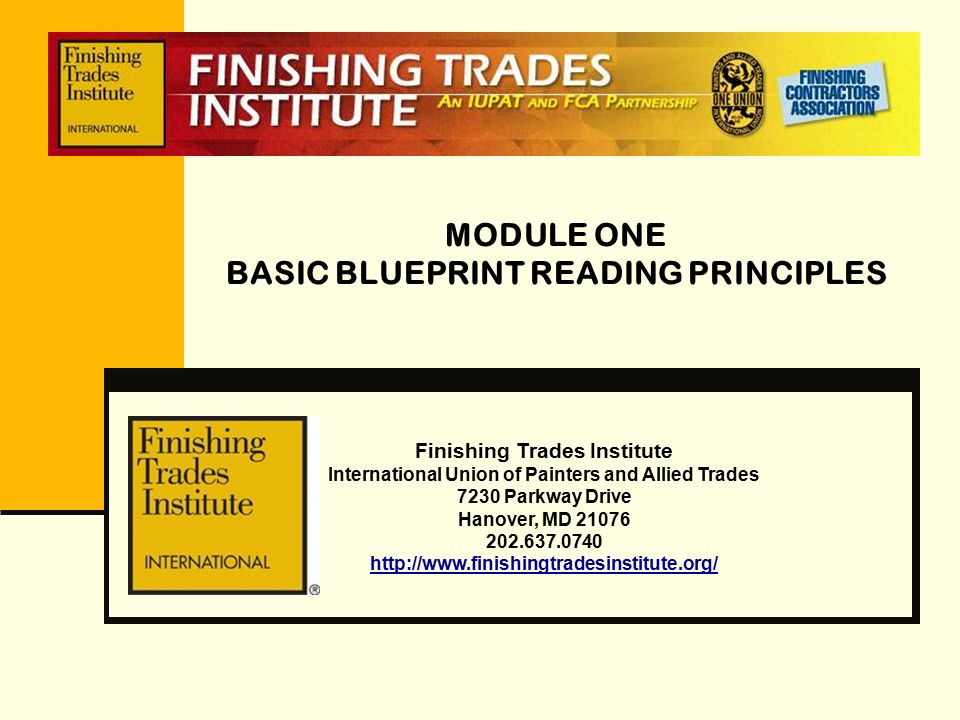 Module one basic blueprint reading principles ppt video online module one basic blueprint reading principles malvernweather Image collections