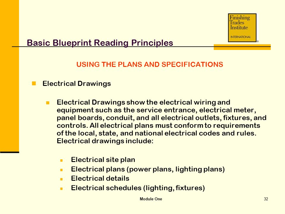module one basic blueprint reading principles ppt video. Black Bedroom Furniture Sets. Home Design Ideas