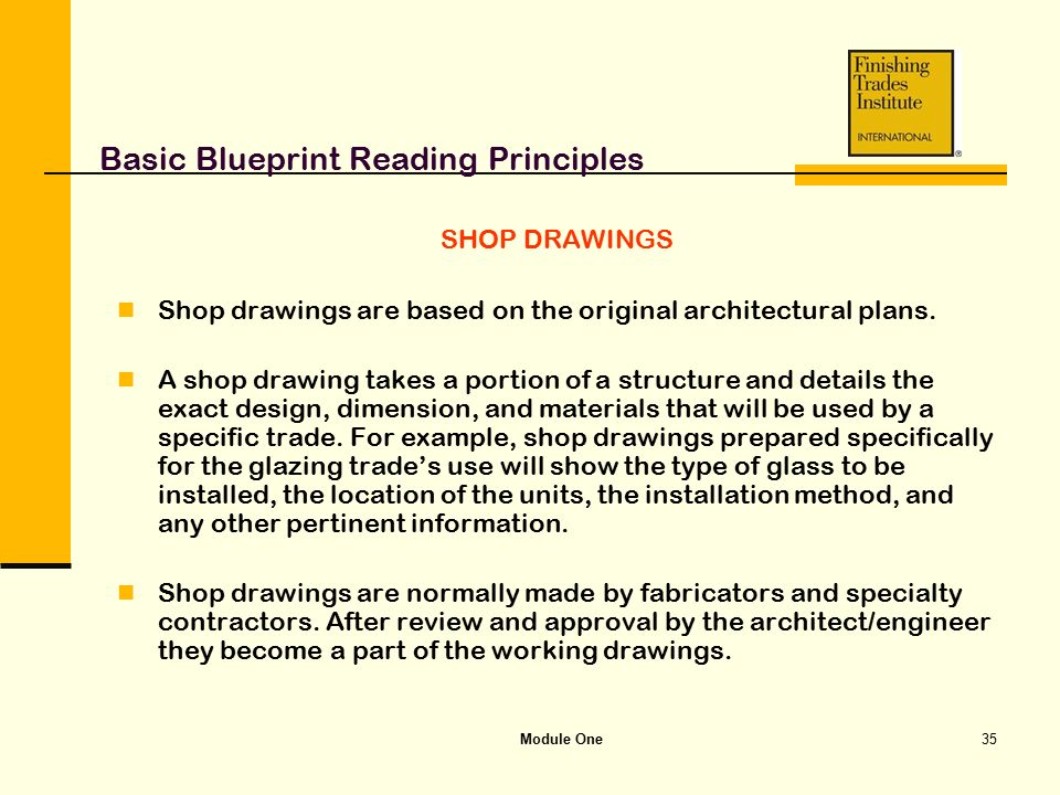Module one basic blueprint reading principles ppt video online basic blueprint reading principles malvernweather Images
