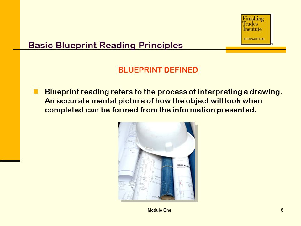 Module one basic blueprint reading principles ppt video online basic blueprint reading principles malvernweather Choice Image
