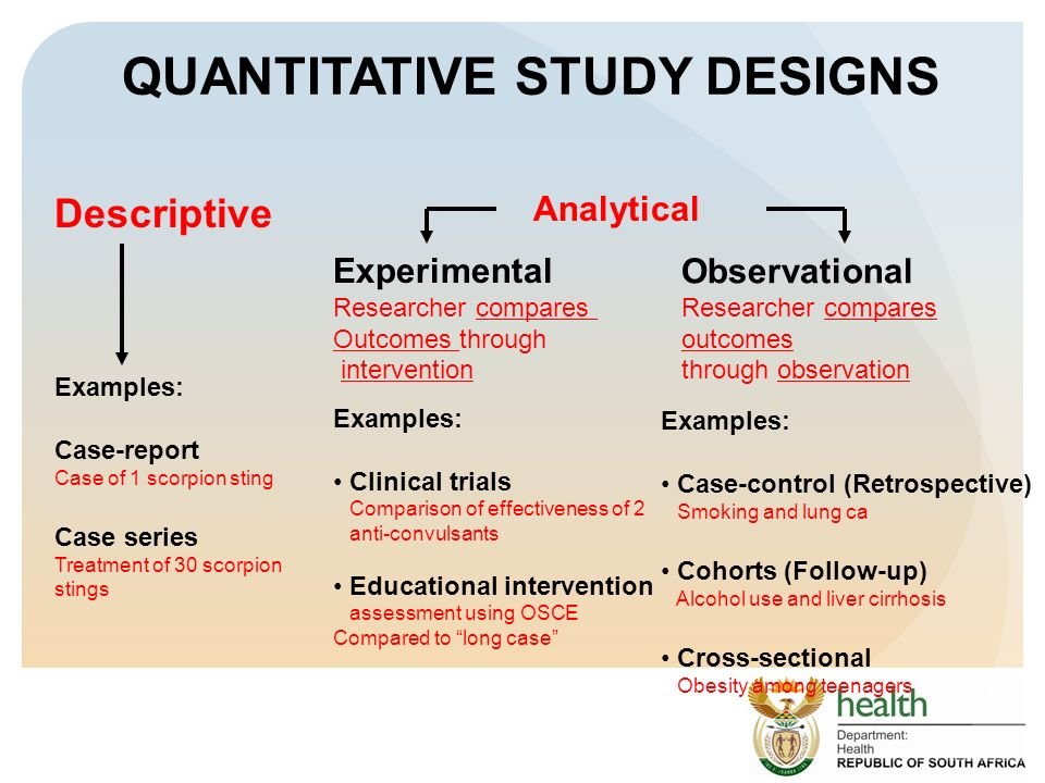 Analytical study Designs in medical research ...