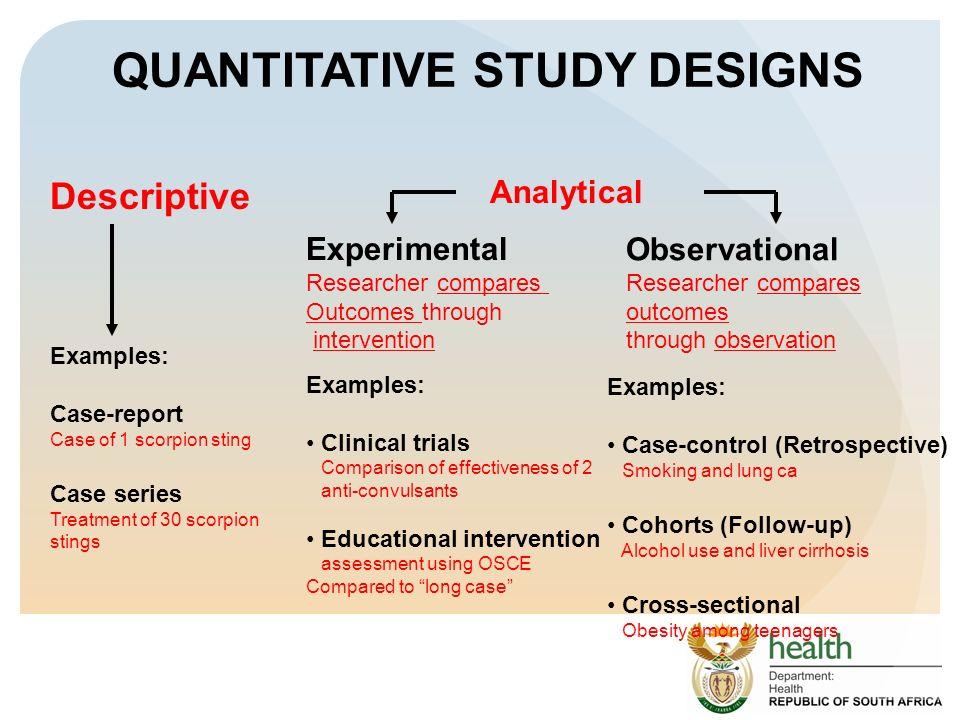 Quantitative Research Design Proving Cause and Effect