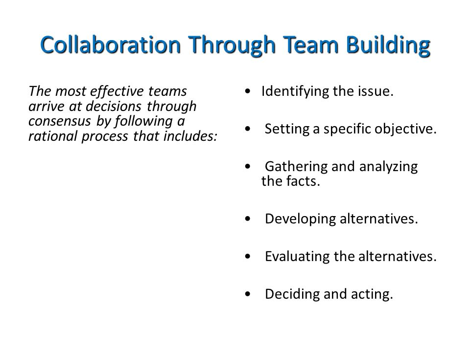 Collaboration Through Team Building