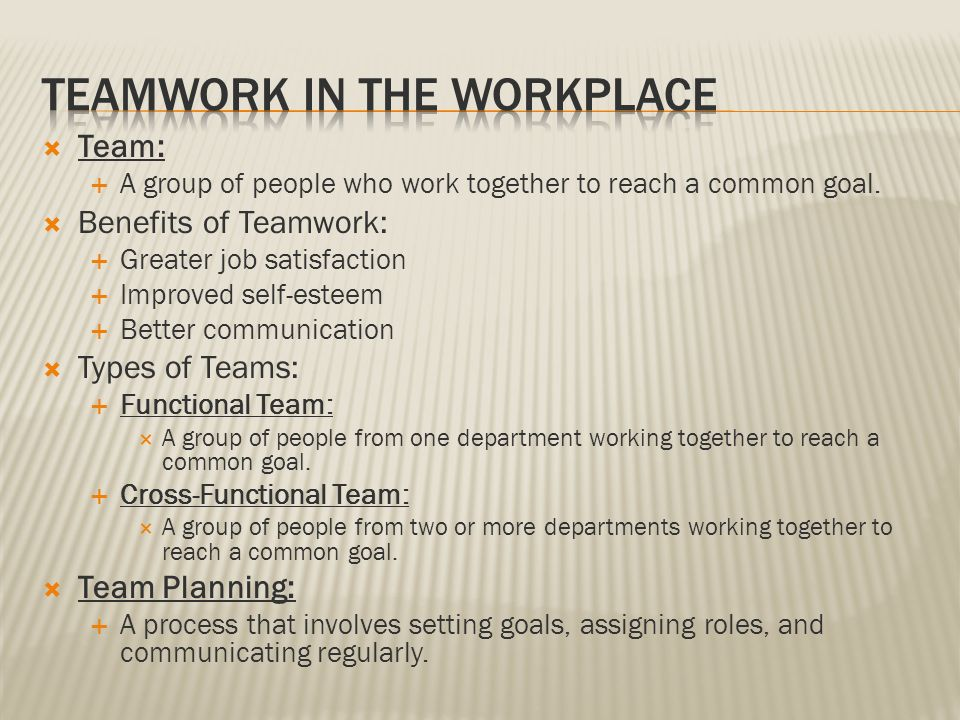 advantages of working in teams