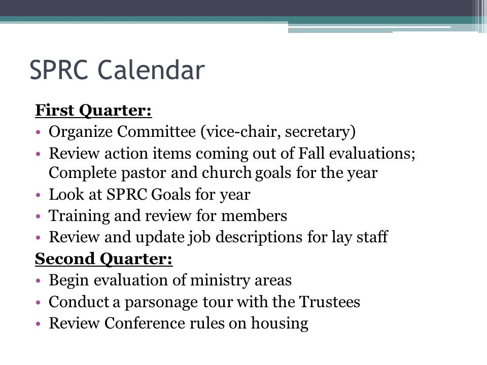 StaffPastorParish Relations Committee Training  Ppt Download