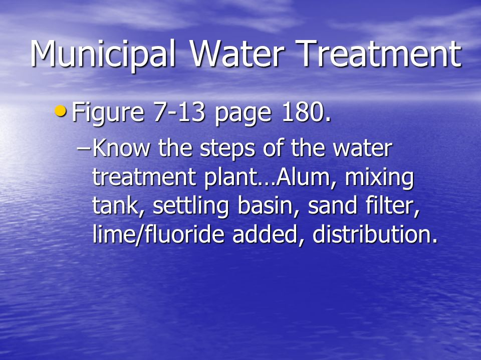 Municipal Water Treatment : Chapter water hydrologic cycle and human use ppt