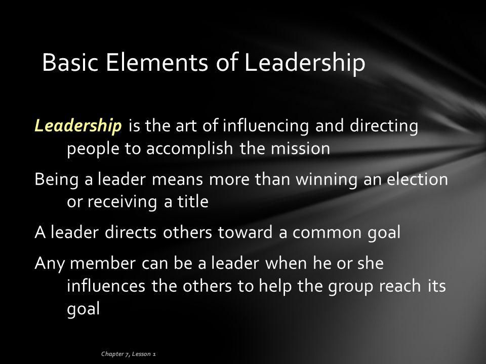 Basic Elements of Leadership