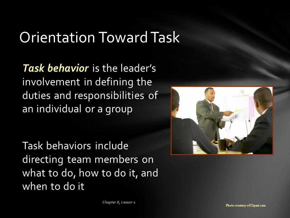 Orientation Toward Task