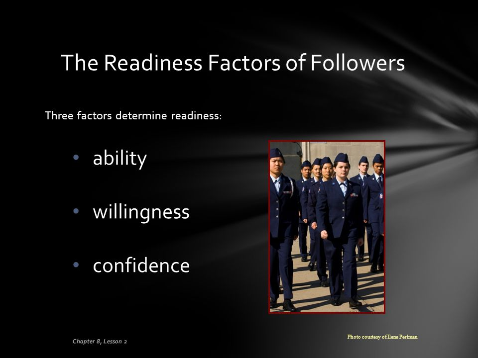 The Readiness Factors of Followers