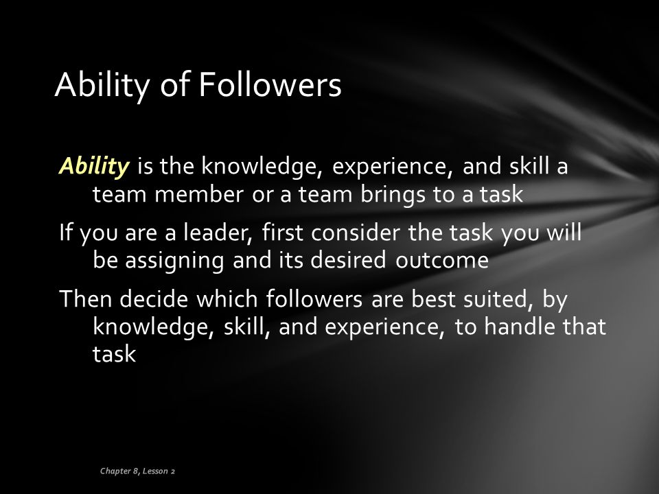 Ability of Followers